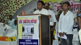 Chief Guest Honorable Mr. Kamalnath addressing women