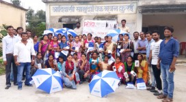 Training of rural women for Internet Saathi Project in Kurai