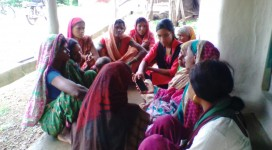 Internet Saathi of Chhapara block giving training on Digital Literacy to rural women